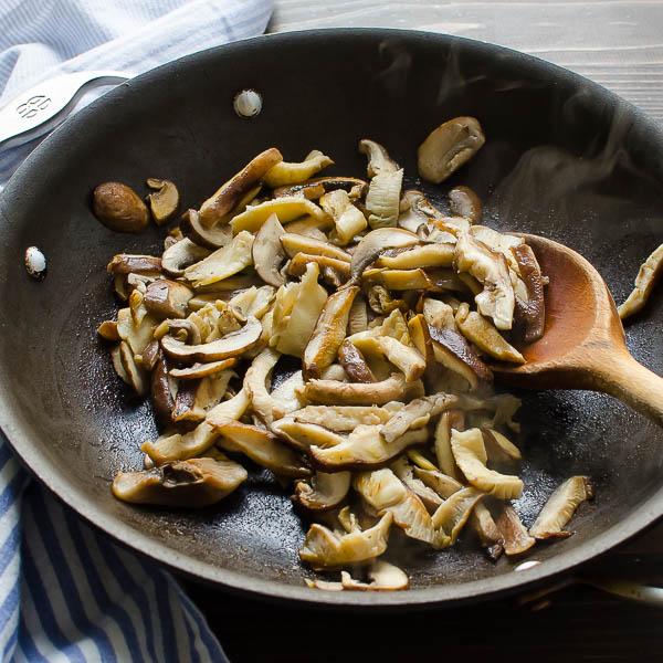 Wild Mushroom Asparagus Quiche