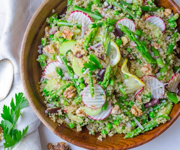 Spring Asparagus Quinoa Salad
