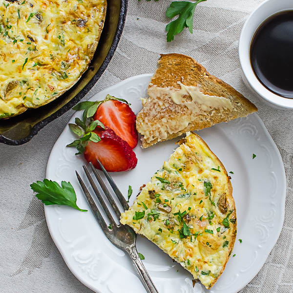 Pan Crisped Potato Bacon Frittata