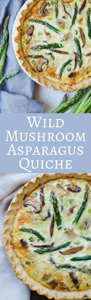 Looking for an easy Spring Quiche recipe?  Looking for an easy Spring Quiche recipe?  Wild Mushroom Asparagus Quiche - is perfect for brunch entertaining and great for Easter and Mother's Day!
