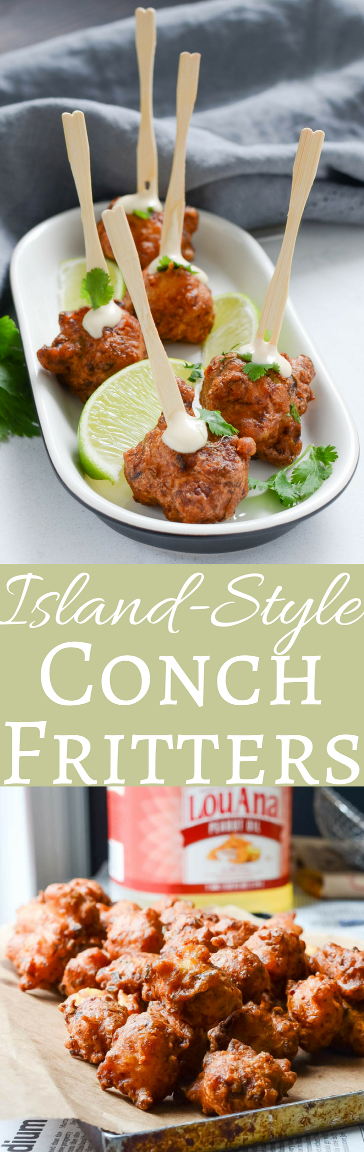 This authentic recipe for conch fritters is easier than you think!  Chunks of tender conch blended with veggies, hot pepper and a light, crispy beer batter are the closest thing to the Bahamas without the plane ticket!