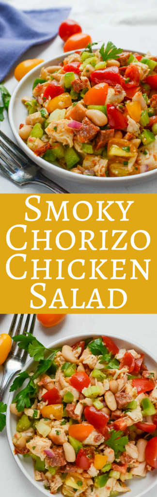 There are so many uses for rotisserie chicken, including this recipe for Smoky Chorizo Chicken Salad. It's quick and easy to make, holds up well in the fridge and is great for brown-bag lunches!