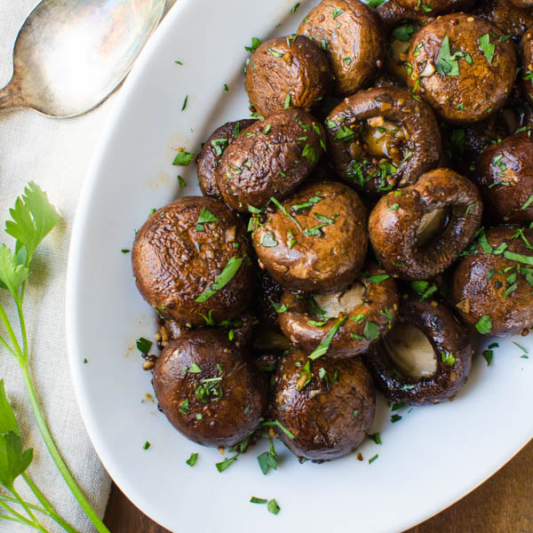 Balsamic Dijon Roasted Mushrooms