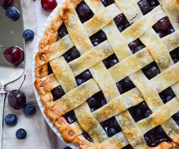 Summer Cherry Berry Pie