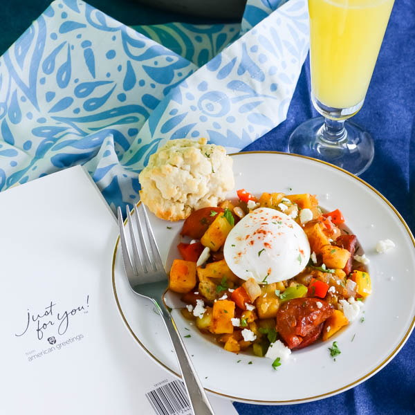 Spicy Chorizo Hash and Father's Day Cards.
