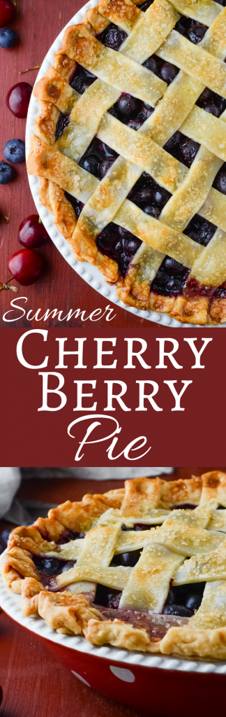 Ever wondered how to make a homemade fruit pie? Summer Cherry Berry Pie is easy to assemble and a showstopper to serve!