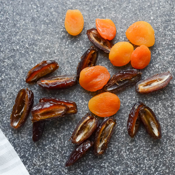 dates and apricots