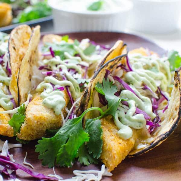 Crispy Baked Fish Tacos