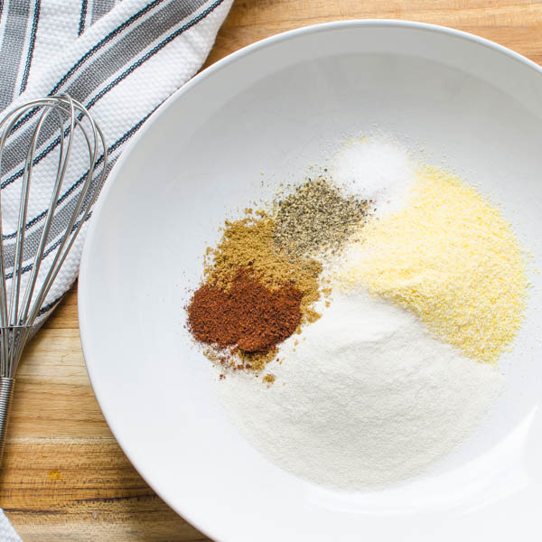 cornmeal, flour and spices