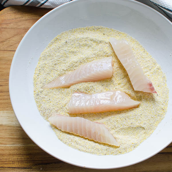 tilapia in cornmeal dredge