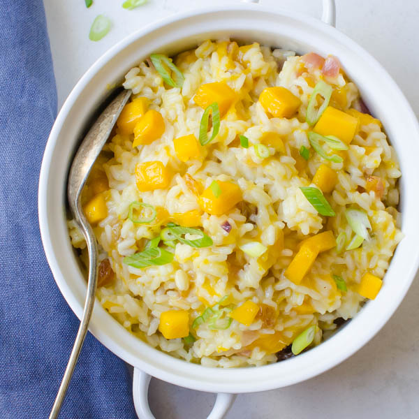Creamy Coconut Mango Rice | Garlic & Zest