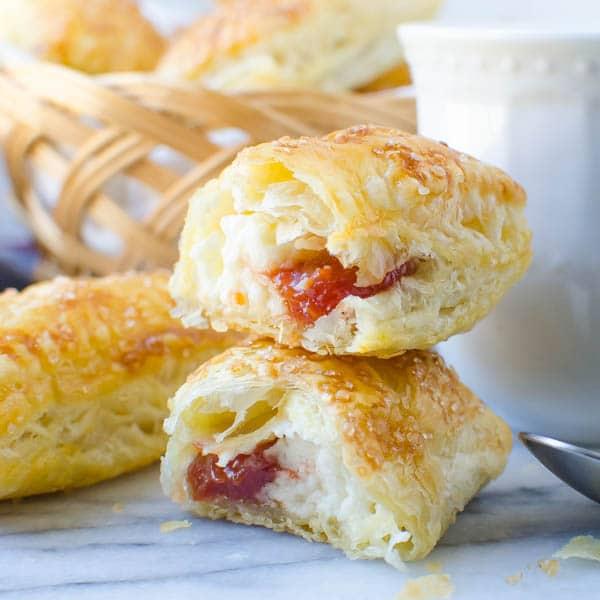 Guava Cream Cheese Pastries | Garlic & Zest