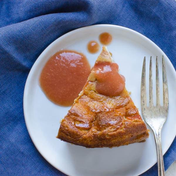 Mini Guava Ricotta Cheesecake with fork