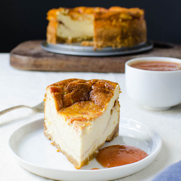 Mini Guava Ricotta Cheesecake on a plate