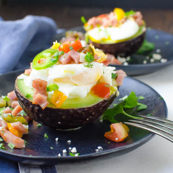Two Poached Egg Avocado Boats