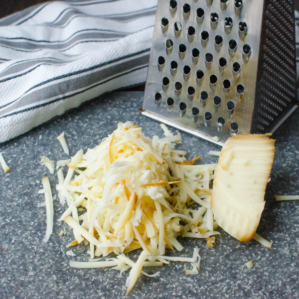 grated cheese and grater.