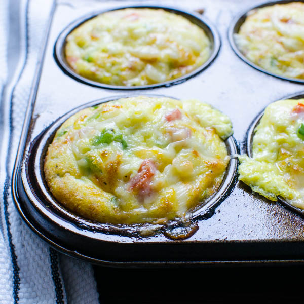 Baked Smoked Gouda Omelette Cups