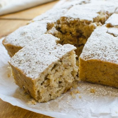 One-Bowl Applesauce Walnut Snack Cake