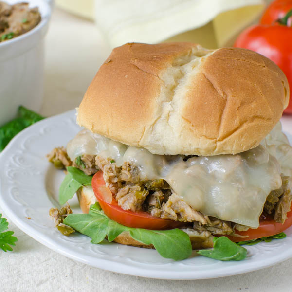 Hatch Chile Chopped Pork sandwiches