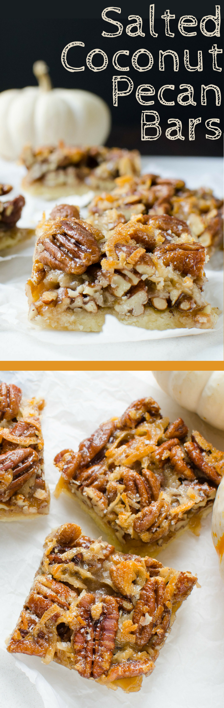 Looking for the ultimate bar cookie recipe? These foolproof  Salted Coconut Pecan Bars are the best of the best with a balanced sweet and salty bite.