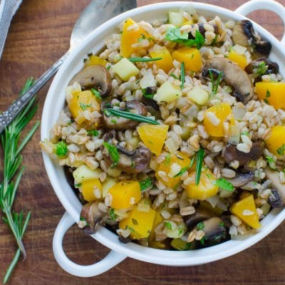 Warm Apple Butternut Farro
