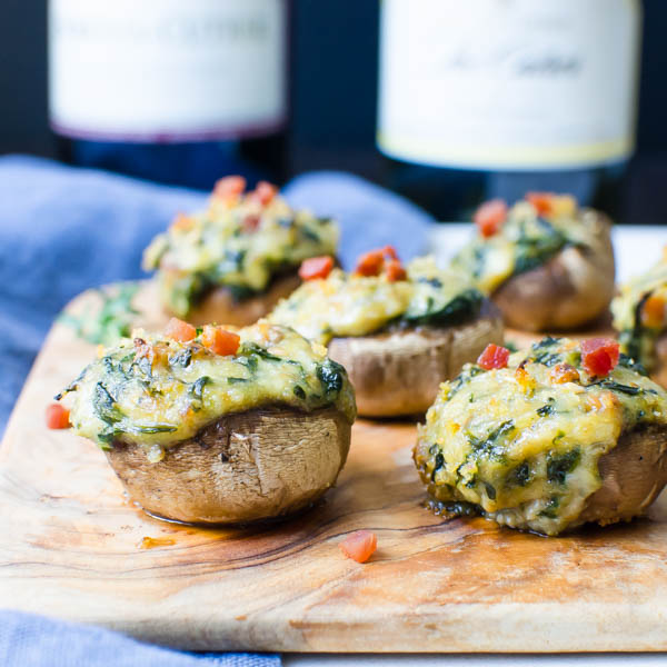 Creamy Spinach Stuffed Mushrooms
