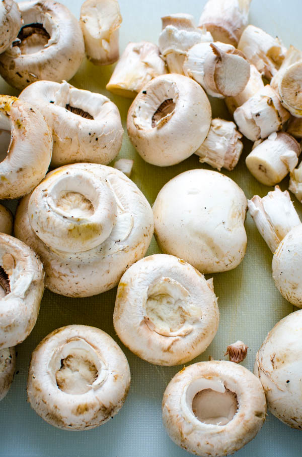 mushroom caps.
