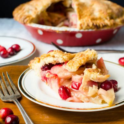 Sweet-Tart Apple Cranberry Pie