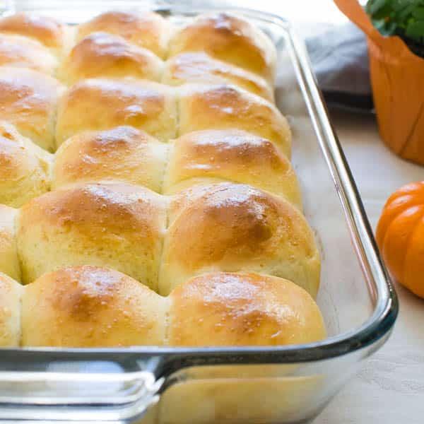 Baked Soft Parmesan Dinner Rolls