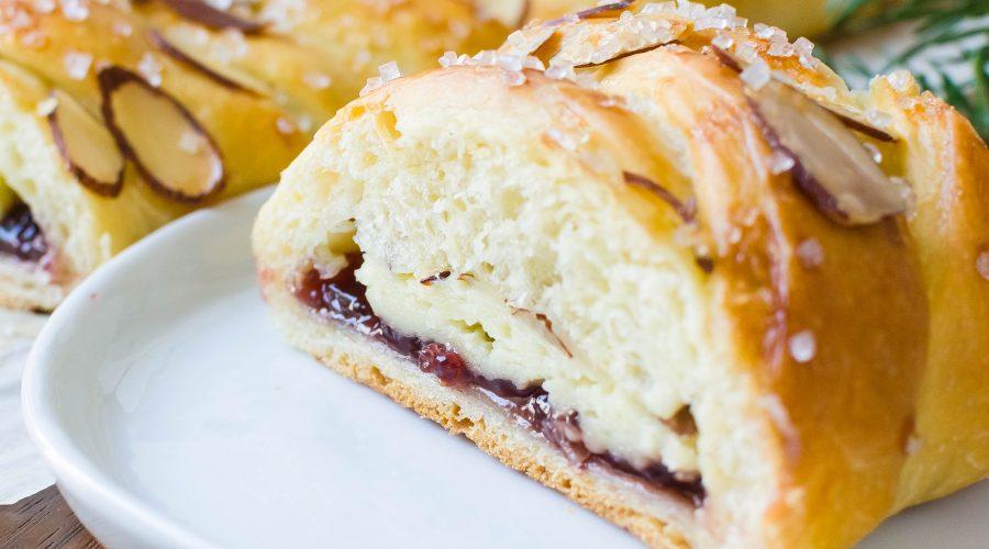 Raspberry Almond Cream Cheese Braid