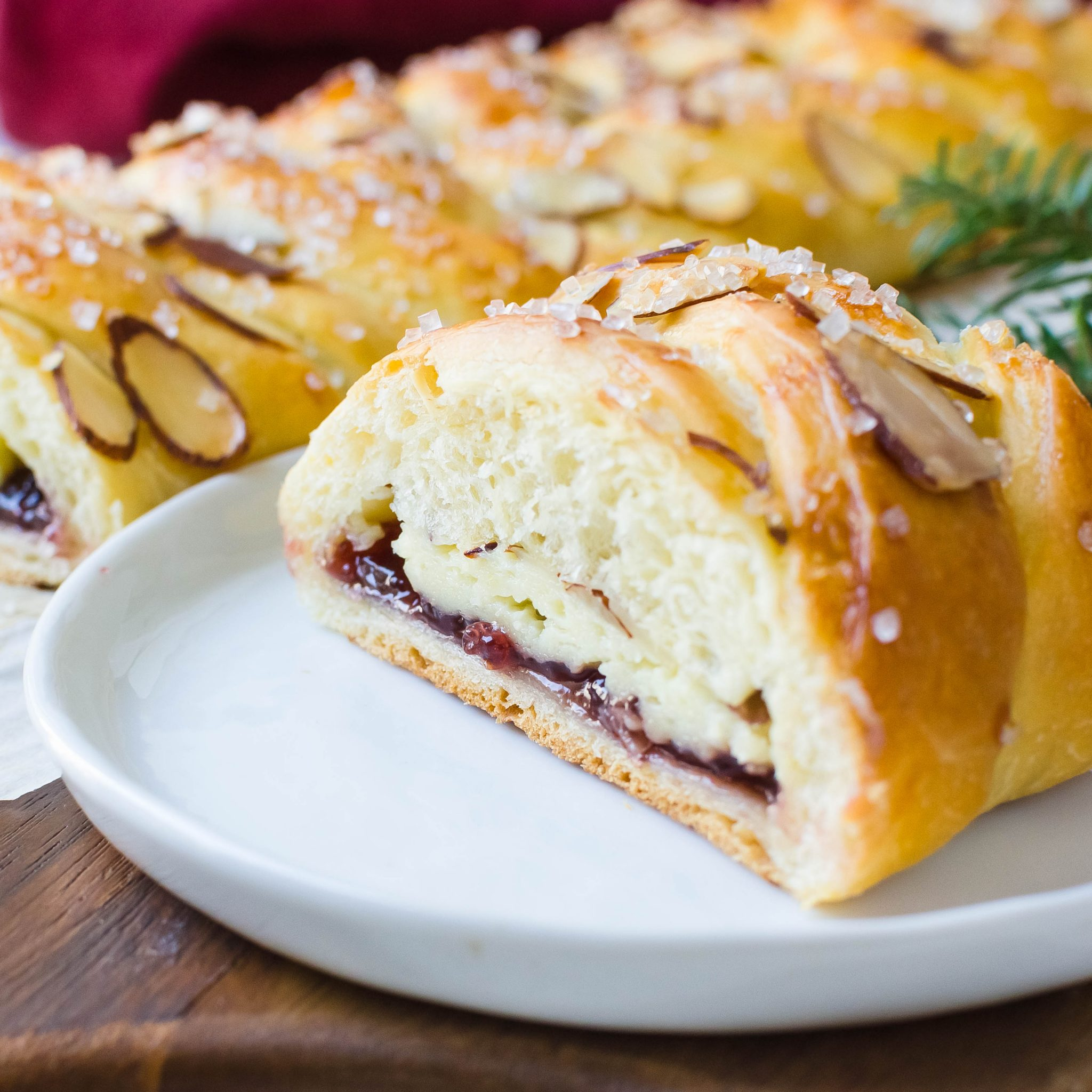 Raspberry Almond Cream Cheese Braid