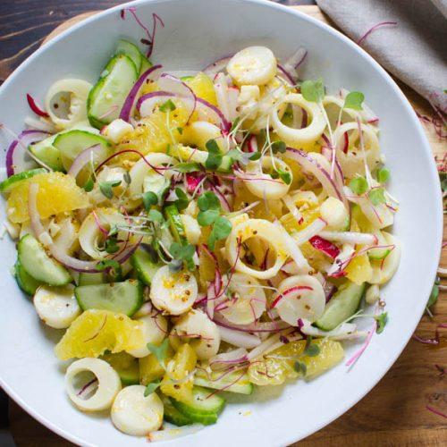 Citrusy Hearts of Palm Salad