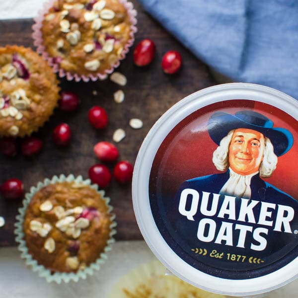 Quaker oatmeal box.