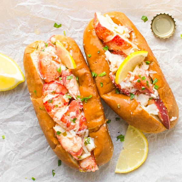 Warm Lemon Butter Lobster Roll