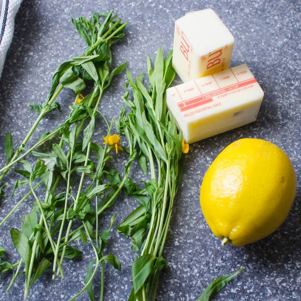 butter, lemon and tarragon