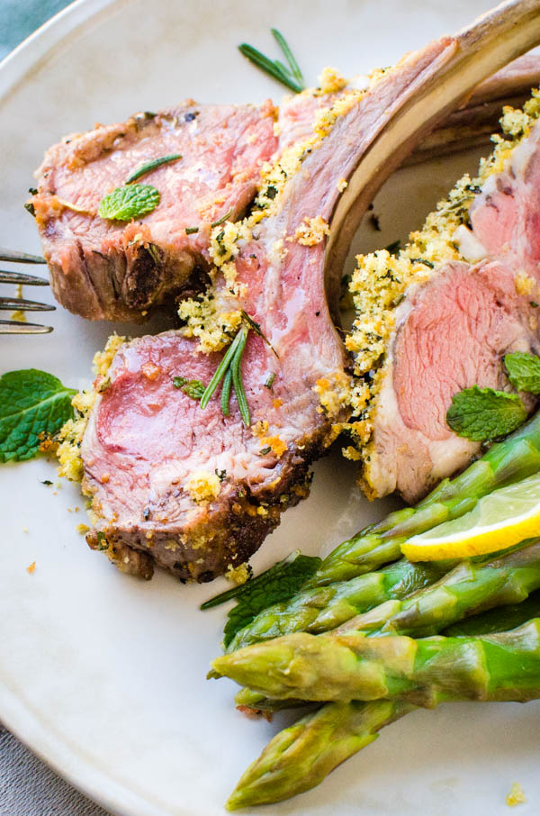Herb Crusted Rack of Lamb for Valentine's Day