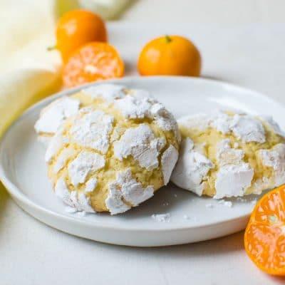 Calamondin Crinkle Cookies