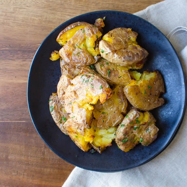 Plated Duck Fat Roasted Potatoes