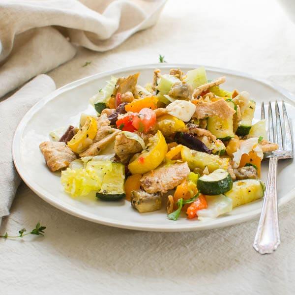 Mediterranean-Style Fattoush Salad