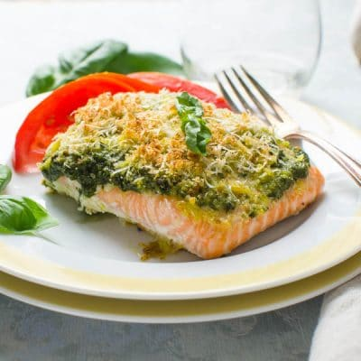 Baked Salmon Pesto