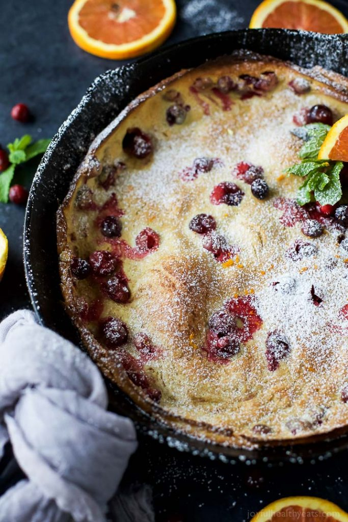 Cranberry Orange Dutch Baby