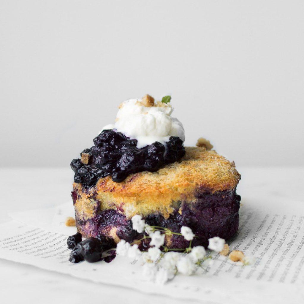 Baked Blueberry French Toast Cake