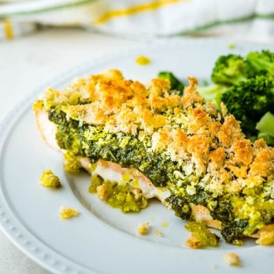 Quick and Easy Baked Salmon Pesto For Weeknight Dinners