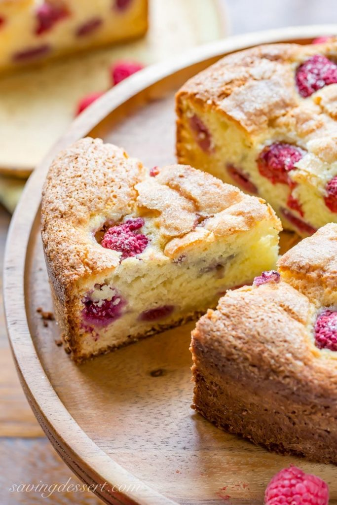 Raspberry Ricotta Breakfast Cake