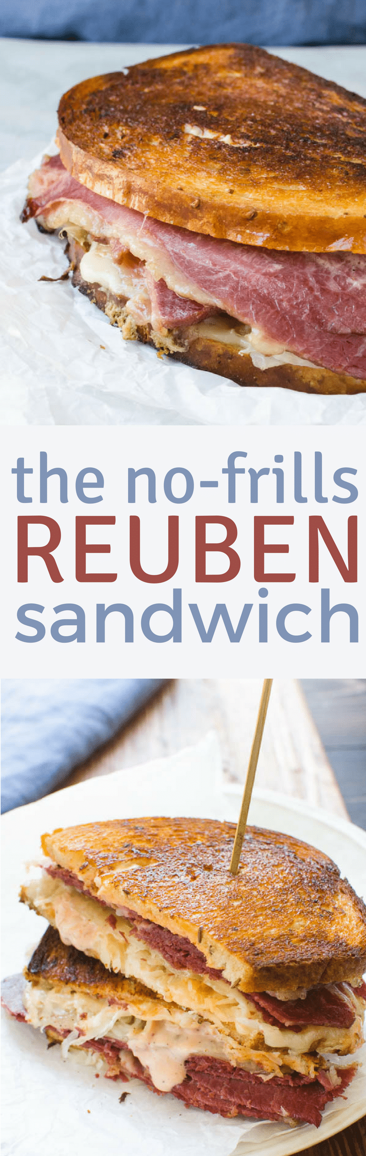 The Reuben a hearty grilled corned beef sandwich that's taken to the next level with Swiss cheese and sauerkraut, is easy to make at home. This Classic Reuben recipe has tips on how to make yours, the best reuben at home.  Great for using up leftover corned beef. #reuben #reubensandwich #grilledsandwich #cornedbeef #russiandressing #swisscheese #sandwichrecipe #sandwich #sauerkraut #homemadereuben #reubendressing #reubenfromscratch #classicreuben #reubenrecipe
