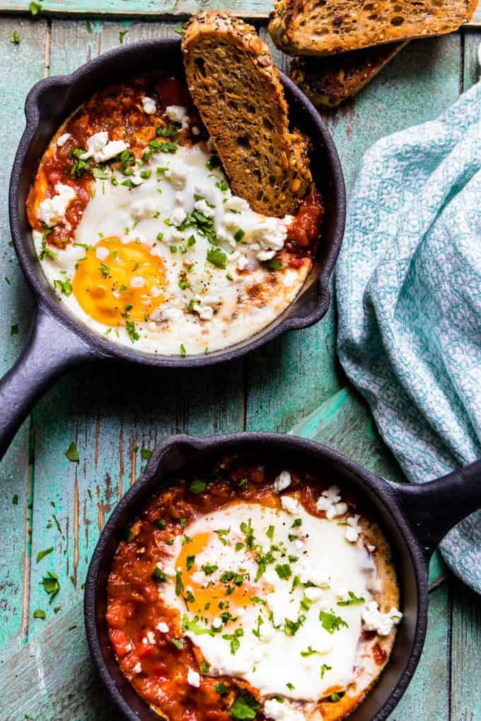 Spicy Turkish Style Baked Eggs