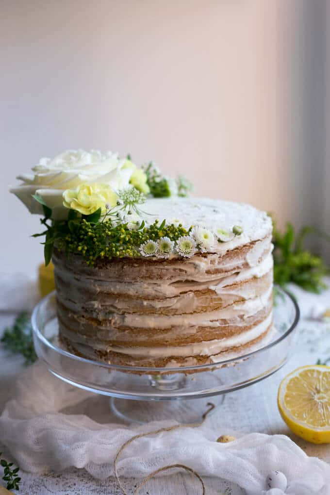 Vegan Lemon and Thyme Cake