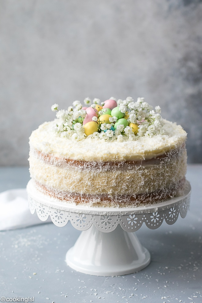 Coconut Cheesecake Cake for Easter