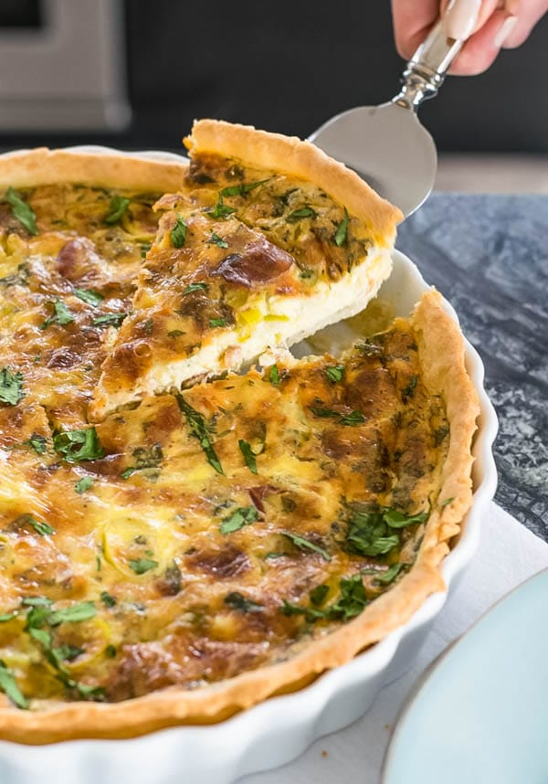 Quiche with Leeks and Pancetta