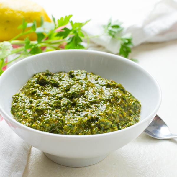 Chermoula Recipe - 2 Ways in a serving bowl.